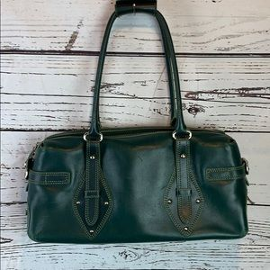 Cole Haan Blue-Green Leather Satchel